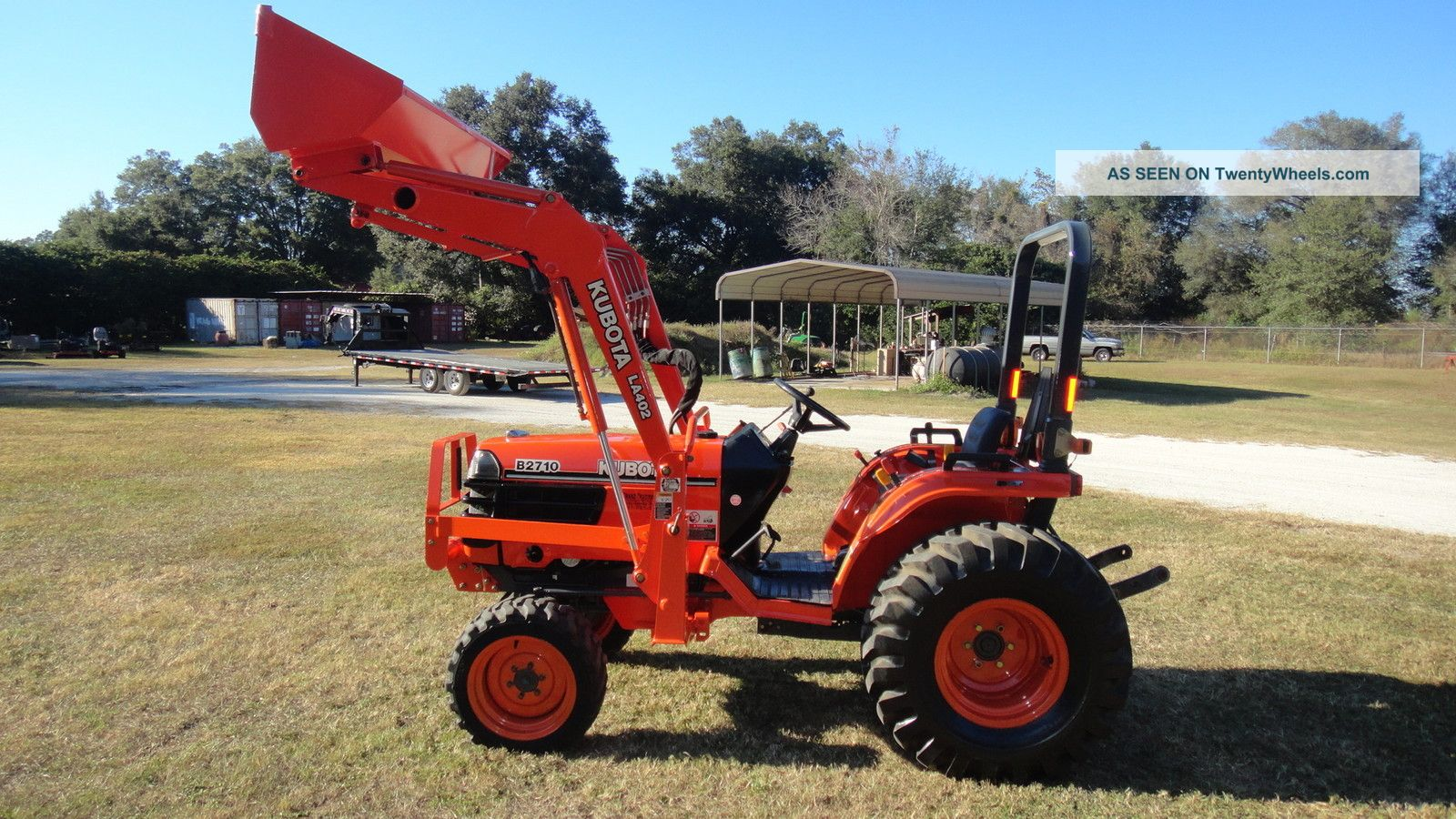 Kubota B2920 Farm Tractor Tractors Wiring Diagram B26 Tlb B2710 4x4 With Loader Hst Very Low Hours Photo
