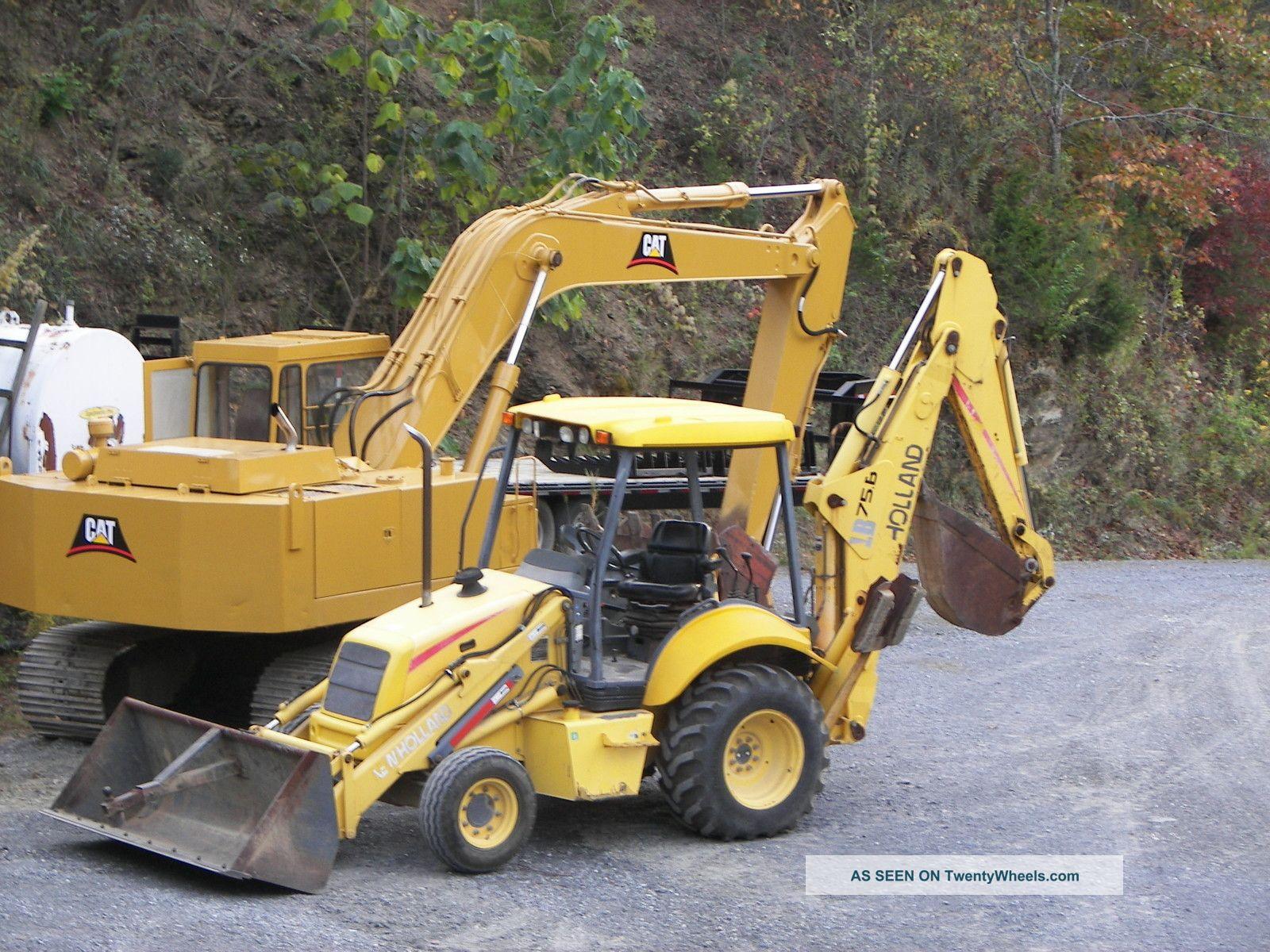 New Holland Lb75b Backhoe Loader Tractor   New Holland Backhoe ... on