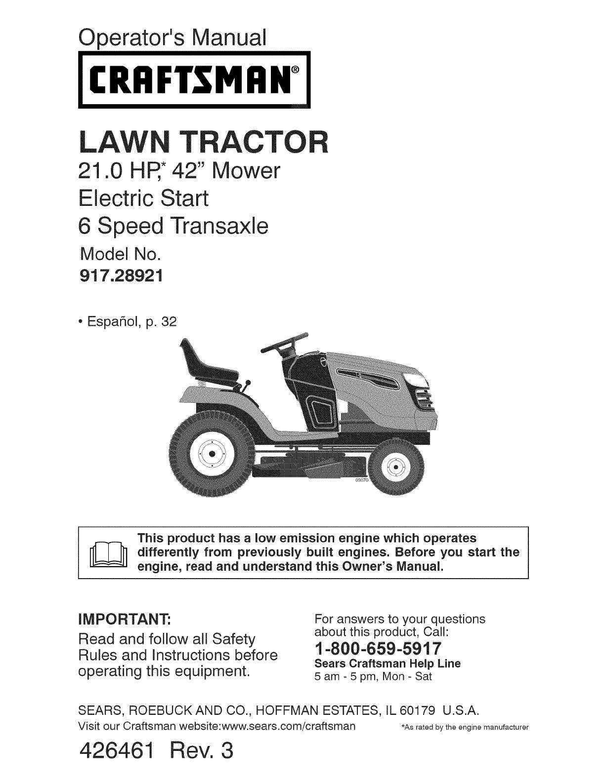 Wiring Diagram Craftsman 917 287480 Library Sears Lawn Tractor 289470 Mower Car Diagrams 54 Zero Turn