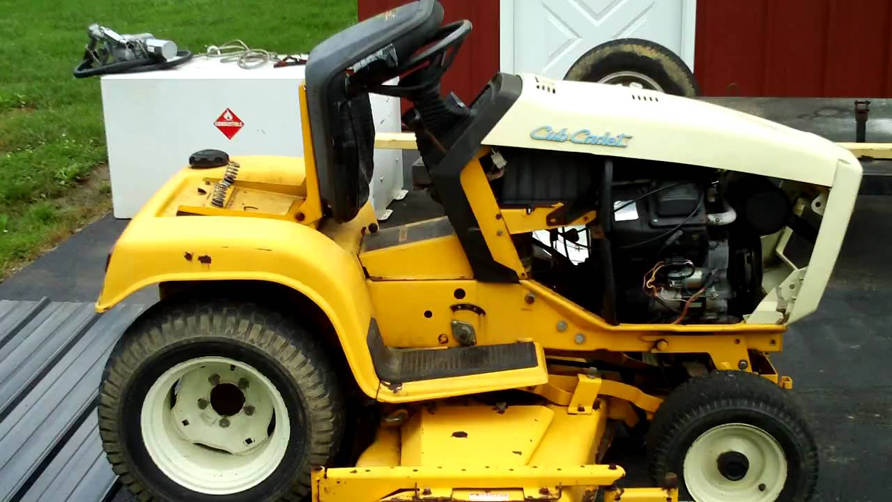 Cub Cadet 1863 Lawn Tractor Tractors Wiring Diagram Youtube