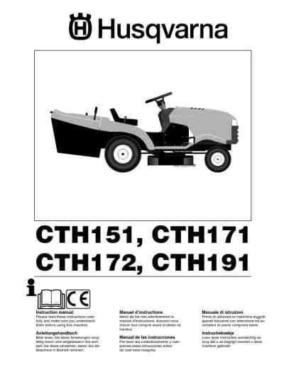 Husqvarna Cth191 Lawn Tractor Husqvarna Lawn Tractors