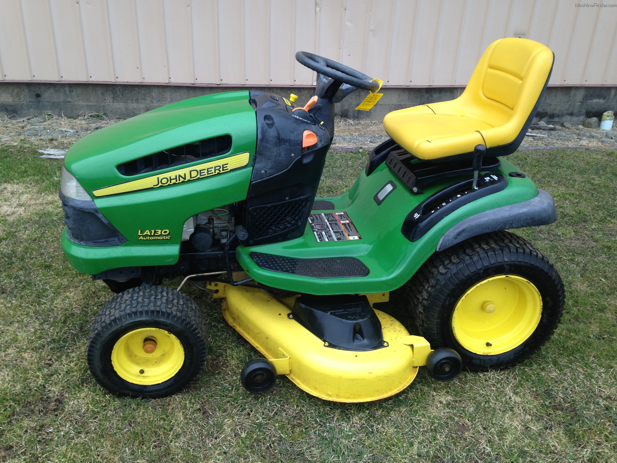 John Deere La120 Lawn Tractor Tractors D130 Belt Diagram Auto Cars Price And Release 2007 La130 Garden Commercial Mowing