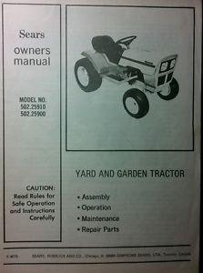Sears Suburban 10 Lawn Tractor | Sears Lawn Tractors: Sears Lawn