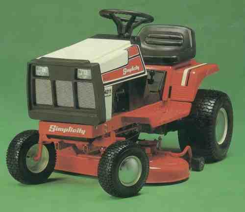 Simplicity 4211 Lawn Tractor   Simplicity Lawn Tractors: Simplicity