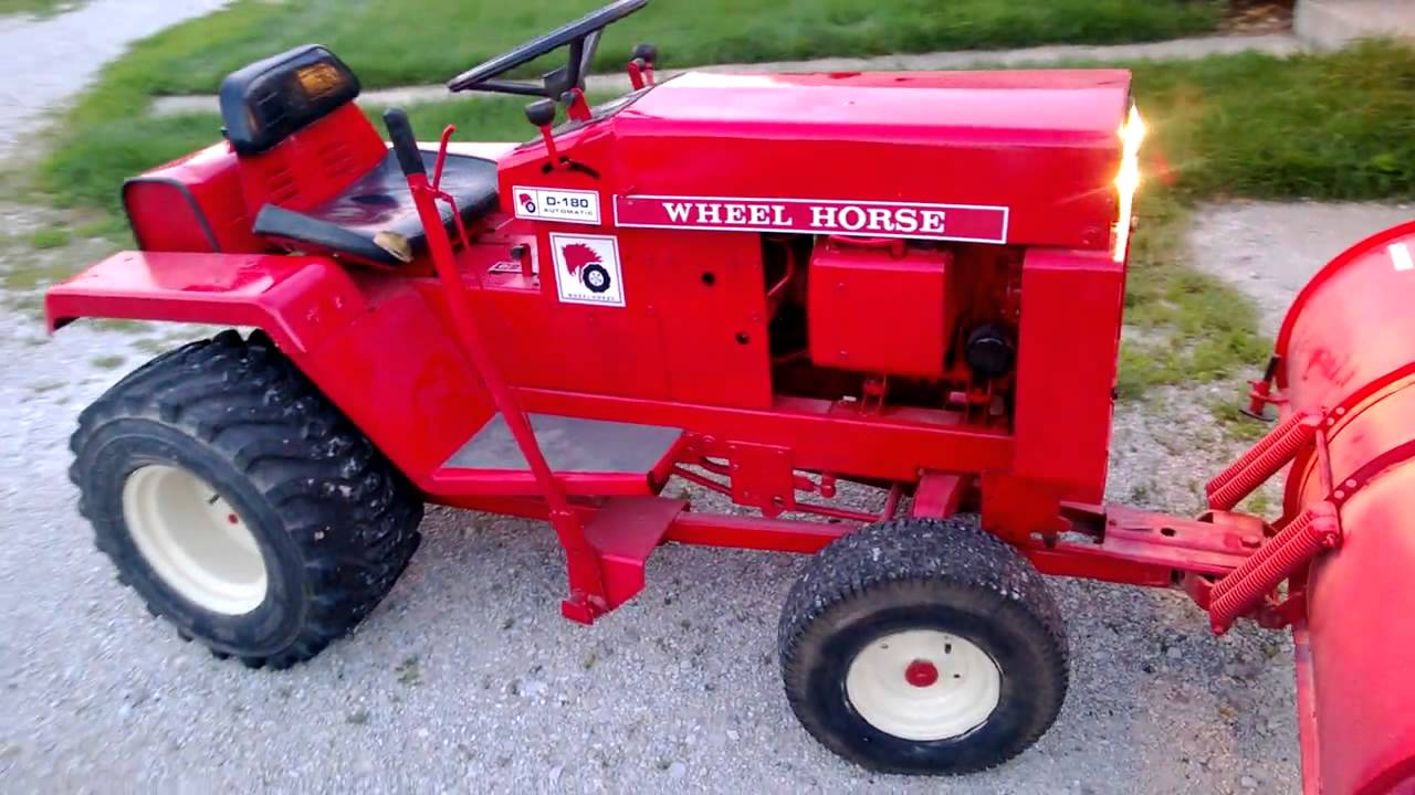 Wheel Horse D 180 Lawn Tractor Tractors Kohler K532 Wiring Diagram With A Magnum 18 Youtube